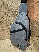 Барсетка REEBOK слинг на грудь/Cумка спортивные мессенджер для через плечо Ткань 600*600 мессенджер( ОПТ) , фото 1