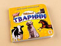 Домашні тварини, книжка для найменших (укр)