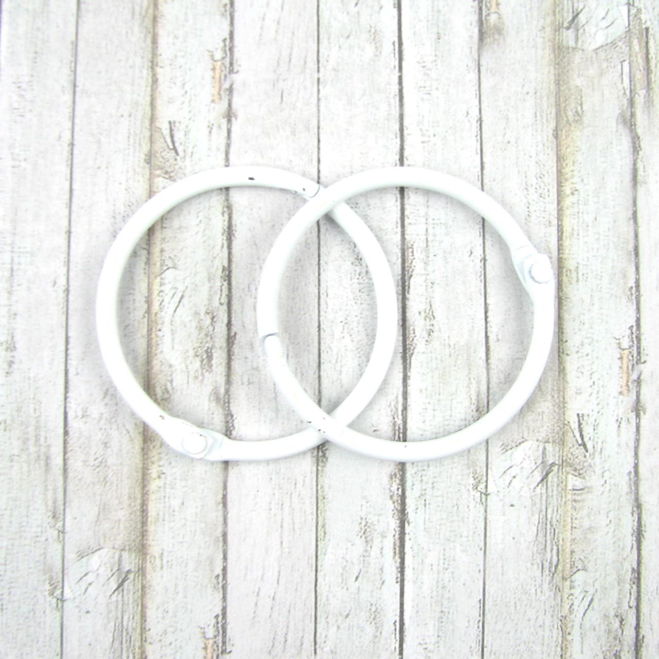 Кольца для альбомов, ,белые 40мм 2шт в наборе