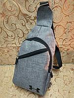 Барсетка UNDER ARMOUR слинг на грудь/Cумка спортивные мессенджер для через плечо 600*600 мессенджер( ОПТ) , фото 1