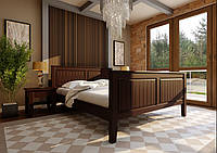Кровать из дерева (сосна) Глория с высоким изножьем 140*190/200 ЧДК, фото 1