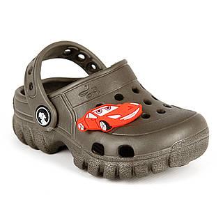 Кроксы коричневые, пляжная обувь для мальчиков, сабо Jose Amorales