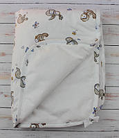 Непромокаемая пеленка на синтепоне для ухода за детьми 60х80см Птички, фото 1