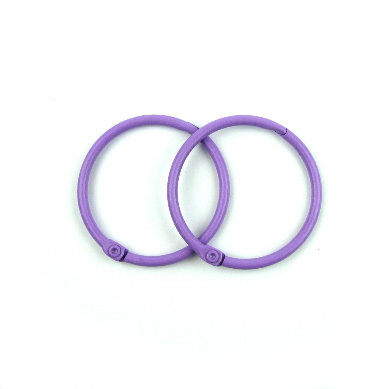 Кольца для альбомов, блокнотов, фиолетовый 40мм 2шт в наборе