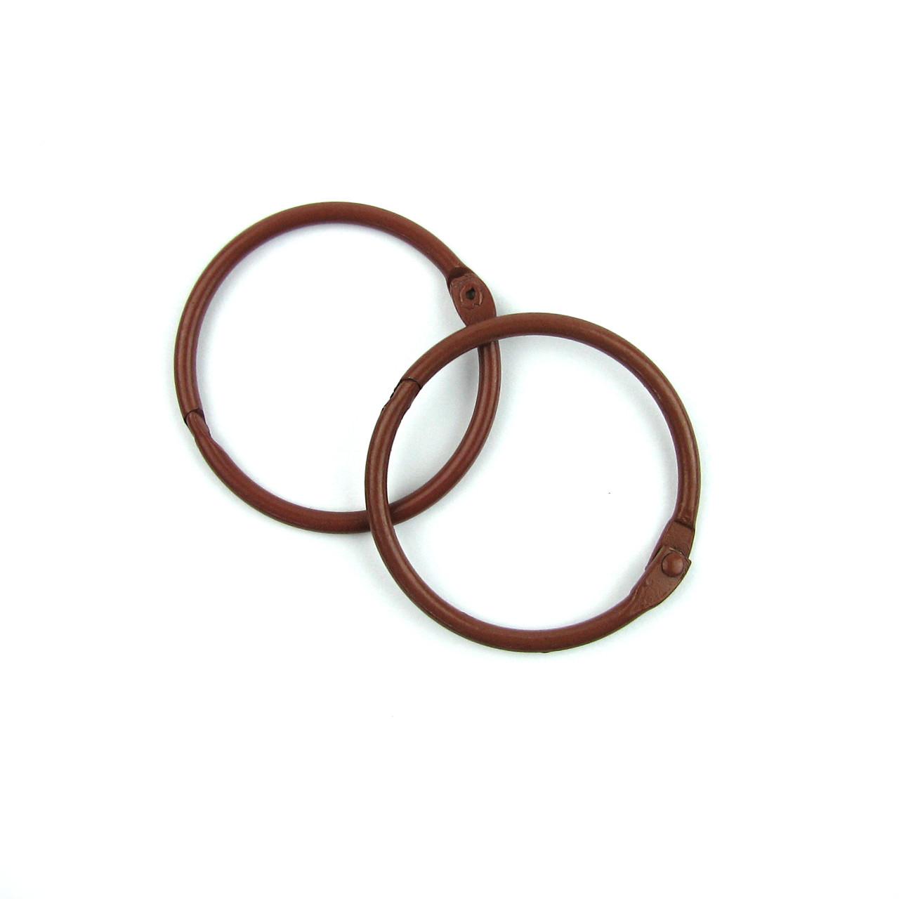 Кольца для альбомов, блокнотов, коричневый 40мм 2шт в наборе
