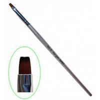 Кисть для геля с деревянной ручкой №4 MART