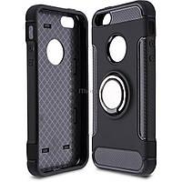 Чехол для моб. телефона Laudtec для iPhone 5/SE Ring stand (black) (LR-PCI5SE)