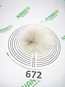 Меховой помпон Енот, Св. песочный, 8 см, 672