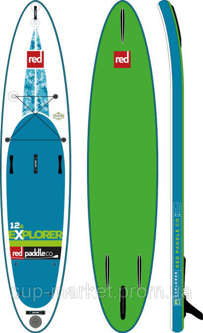 """SUP доска Red Paddle Co Explorer 12'6"""" x 32"""", 2017"""