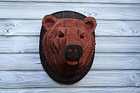 """Интерьерная деревянная 3D голова-пазл """"Медведь"""""""