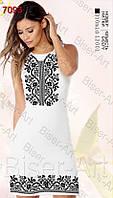 Заготівля жіночої сукні З-7093 льон без рукавів
