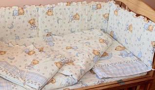 Наборы постельного белья в детскую кроватку 6 предметов (МАЛЕНЬКОЕ ОДЕЯЛО)