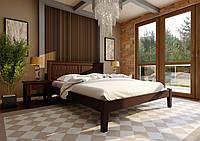Ліжко з дерева (сосна) Глорія з низьким ізножьем 120*190/200 ЧДК, фото 1