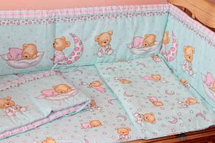 Наборы постельного белья в детскую кроватку 6 предметов (БОЛЬШОЕ ОДЕЯЛО)
