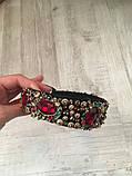 Ободок-диадема (обруч) в стиле Dolce&Gabbana_с красными камнями, фото 6