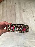 Ободок-диадема (обруч) в стиле Dolce&Gabbana_с красными камнями, фото 5