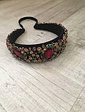 Ободок-диадема (обруч) в стиле Dolce&Gabbana_с красными камнями, фото 4