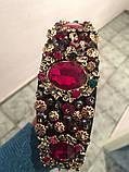 Ободок-диадема (обруч) в стиле Dolce&Gabbana_с красными камнями, фото 2