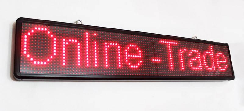 Светодиодная Бегущая LED  Строка красная 100 х 20 см - Уличная, фото 2