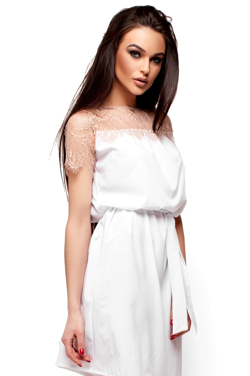 6c289b21729f3b9 Летнее платье с гипюром,белый m, цена 559 грн., купить Украина — Prom.ua  (ID#708583188)