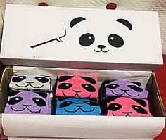 Набор женских демисезонных носочков панда размер 35-41 ассорти 12 пар