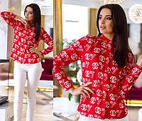"Рубашка ""Chanel"". Красная, 3 цвета."