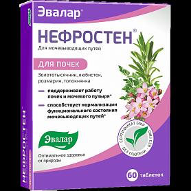 Нефростен 60таб. Евалар - препарат для здоров'я нирок і сечового міхура., фото 2