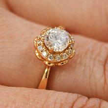 Кольцо, камешки Swarovski