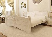Ліжко з дерева (вільха, еврощит) Мальва 90*190/200 ЧДК, фото 1