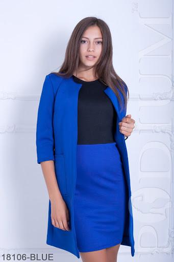 Женский кардиган с неопрена Esma 18106-BLUE