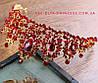 Диадема, корона,  тиара под  золото с красными камнями,  высота 6,5 см.