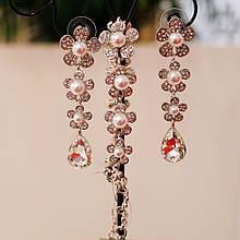 Комплект браслет і сережки
