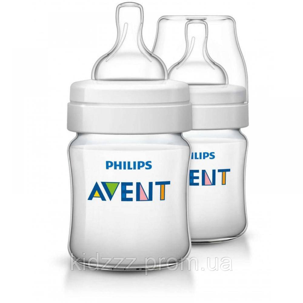 Набор бутылочек  для кормления Classic + 125 мл 2 шт Phillips Avent (Филипс Авент)