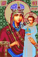 """Схема для вышивки бисером """"Пресвятая Богородица Призри на смирение"""""""
