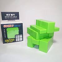 Кубик Рубика зеркальный 3х3 Qiyi-Mofange Mirror Green, фото 1