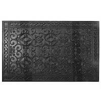 """Килимок побутовий """"Вензелі"""" PG98701 гумовий (суцільний), чорний, 55 * 85 * 0,5 см, килимок придверні, килимок в передпокій, придверні килимки, килимок"""