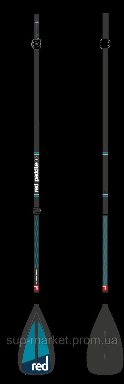 Разборное SUP весло Red Paddle Co Carbon-Nylon 3pc Paddle (LeverLock), 2018