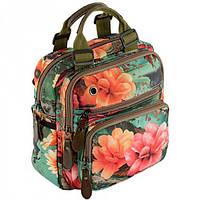 721686eb6447 Компактная цветочная сумка-рюкзак Traum арт. 7224-33