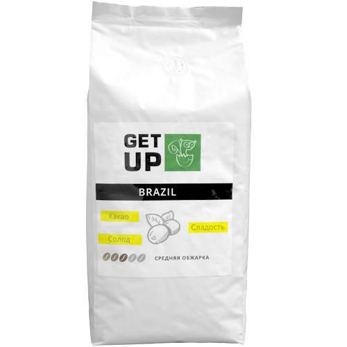 Кофе GetUp Brazil в зернах 1000 г