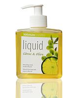 Органическое  Мыло Citrus-Olive жидкое, бактерицидное, с цитрусовым и оливковым маслами SODASAN 0,3л