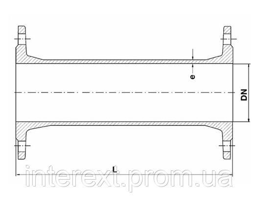Патрубок чугунный фланцевый Ду100 L=200 мм, фото 2