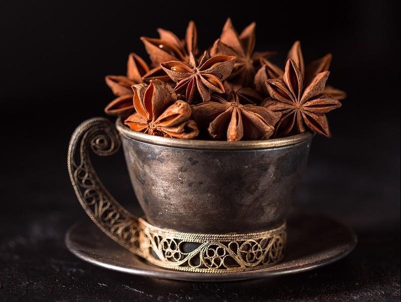 Бадьян, Анис звездчатый плоды-звездочки цельные для декора, 10 шт.