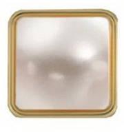 """Украшение """"Квадратная жемчужина"""" 12 мм, цв. золото, 11237, фото 1"""