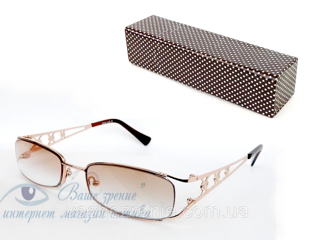 Очки женские для зрения, с диоптриями +/-,солнцезащитные Код:2113