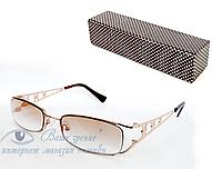 Очки женские для зрения, с диоптриями +/-,солнцезащитные Код:2113, фото 1