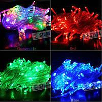 Новогодняя cветодиодная гирлянда LED 100 лампочек (10м): 5 цветов, фото 1