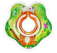 Круг надувной TM Kinderenok Тигренок (салатовый с принтом тигра)