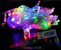 Новогодняя cветодиодная гирлянда нить LED 500 лампочек (30м): 5 цветов (хит продаж), фото 1