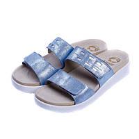 Женские кожаные тапочки CROSTA STAR BLUE 2029, Mubb
