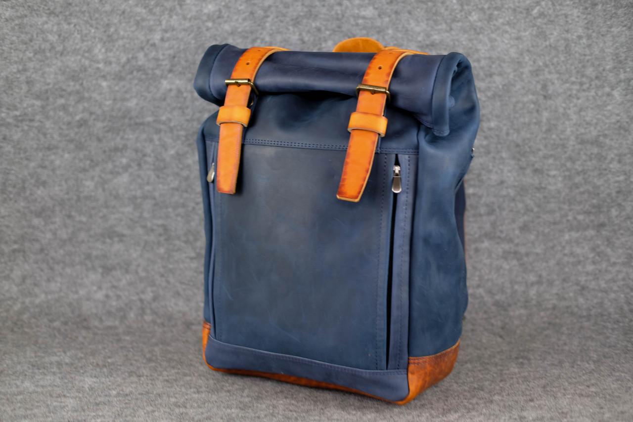 Мужской рюкзак HANKLE H7 |13241| Синий+Янтарь